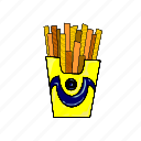 eat, fast food, food collection, french fries, junk food, potato, sticks icon