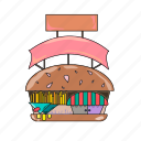 bakery, breakfast, burger, burger shop, eat, fast food, food collection icon
