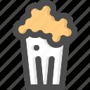 corn, film, food, pop, popcorn, snack
