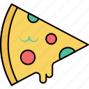 cheese pizza, fast food, italian food, pizza, pizza slice, saucy pizza icon