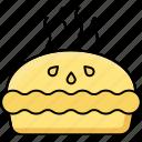 cheese burger, chicken bun, chicken sandwich, burger, light meal, hamburger icon