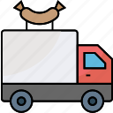 fast food, food transportation, food truck, hotdog point, meal truck, snacks point, street food icon