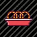 fast, food, onion, ring