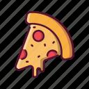 fast, food, pizza, mozzarella