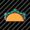 fast, food, taco, tortilla