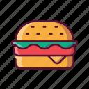 fast, food, burger, cheeseburger