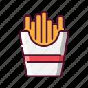 fastfood, french, fries, potato