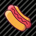 food, sausage, hotdog, fast