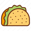 tortilla, taco, food, tacos, fast icon