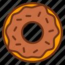 cake, dessert, donut, food, sweet