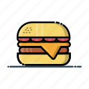 burger, fast, food, hamburger, meal icon