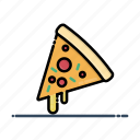 fast, food, meal, pizza, pizza slices, slices icon