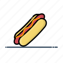 fast, food, hot dog, meal, sausage icon