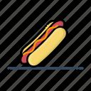 fast, food, hot dog, meal, sausage