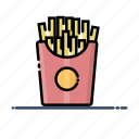 fast, food, french fries, meal icon