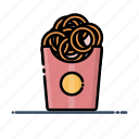 fast, food, meal, onion, onion rings icon