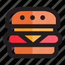 burger, cheeseburger, fast food, fastfood, food, hamburger, meal icon