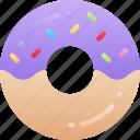 dessert, doughnut, fast food, sweet, treats