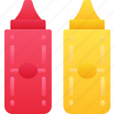condiments, eating, fast food, sauces, take away icon