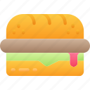 eating, fast food, sandwich, sub, take away icon