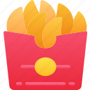 eating, fast food, fries, take away, wedges icon