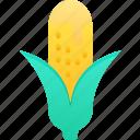 cob, corn, eating, fast food, take away icon