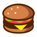 burger, fast, food, meat icon