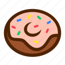 dessert, donut, fast, food icon