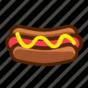 fast, food, hotdog, sausage