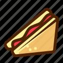 fast, food, meat, sandwich