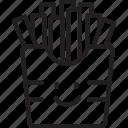fast food, food, french fries, kawaii, potato icon
