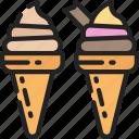 cones, cream, dessert, fast food, ice, sweet, treats