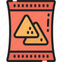 chips, crisps, eating, fast food, nachos icon