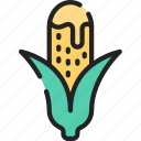 cob, corn, eating, fast food, take away