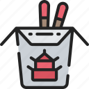 asian, cooking, eating, fast food, takeaway icon
