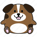 cartoon, chinese, cute, dog, fat, horoscope, zodiac icon