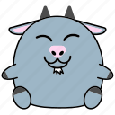 cartoon, chinese, cute, fat, goat, horoscope, zodiac icon