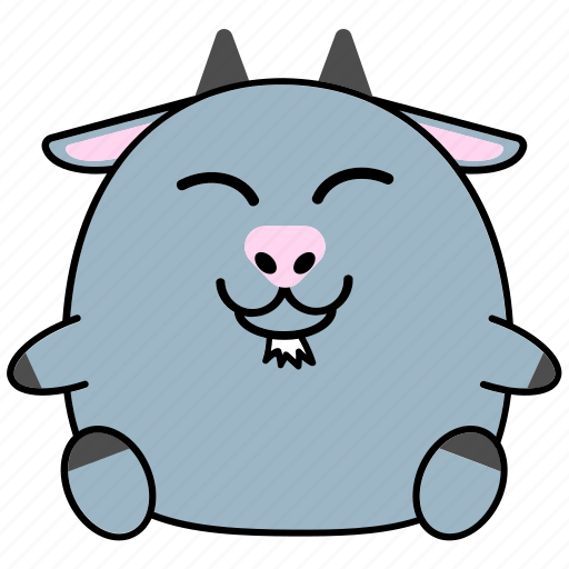Cartoon, chinese, cute, fat, goat, horoscope, zodiac icon - Download on Iconfinder