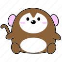 cartoon, chinese, cute, fat, horoscope, monkey, zodiac icon