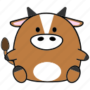 cartoon, chinese, cute, fat, horoscope, ox, zodiac icon