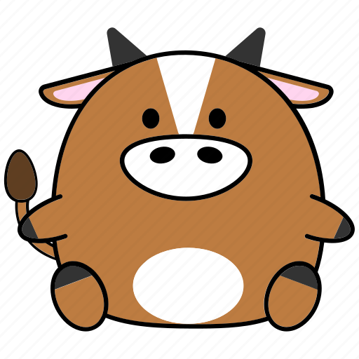 Cartoon, chinese, cute, fat, horoscope, ox, zodiac icon - Download on Iconfinder