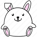 cartoon, chinese, cute, fat, horoscope, rabbit, zodiac icon