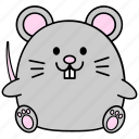 cartoon, chinese, cute, fat, horoscope, rat, zodiac icon
