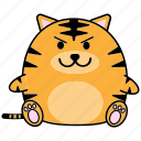 cartoon, chinese, cute, fat, horoscope, tiger, zodiac icon