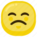 emoji, emoticon, expression, sad, smile icon