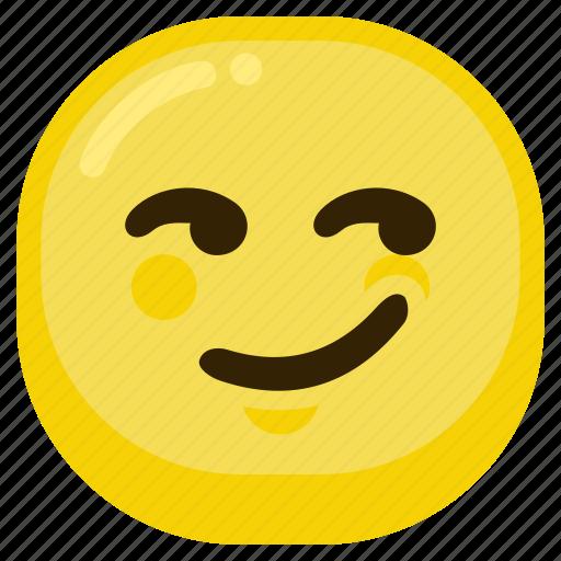 arrogant, emoticon, expression, happy, smile icon
