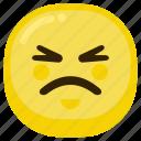 emoji, emoticon, expression, sad, smile, upset icon