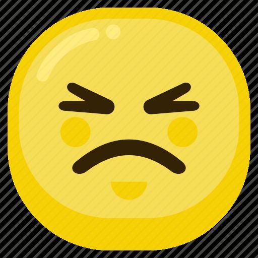 Emoji Emoticon Expression Sad Smile Upset Icon