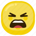 angry, emoticon, expression, mad, sad icon