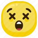 emoticon, shock, suprised, upset icon